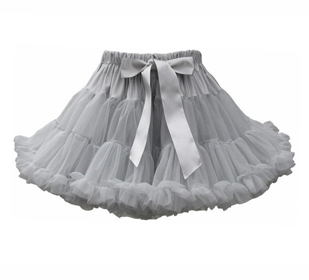 Bob & Blossom Celebration Skirt - Pale Grey