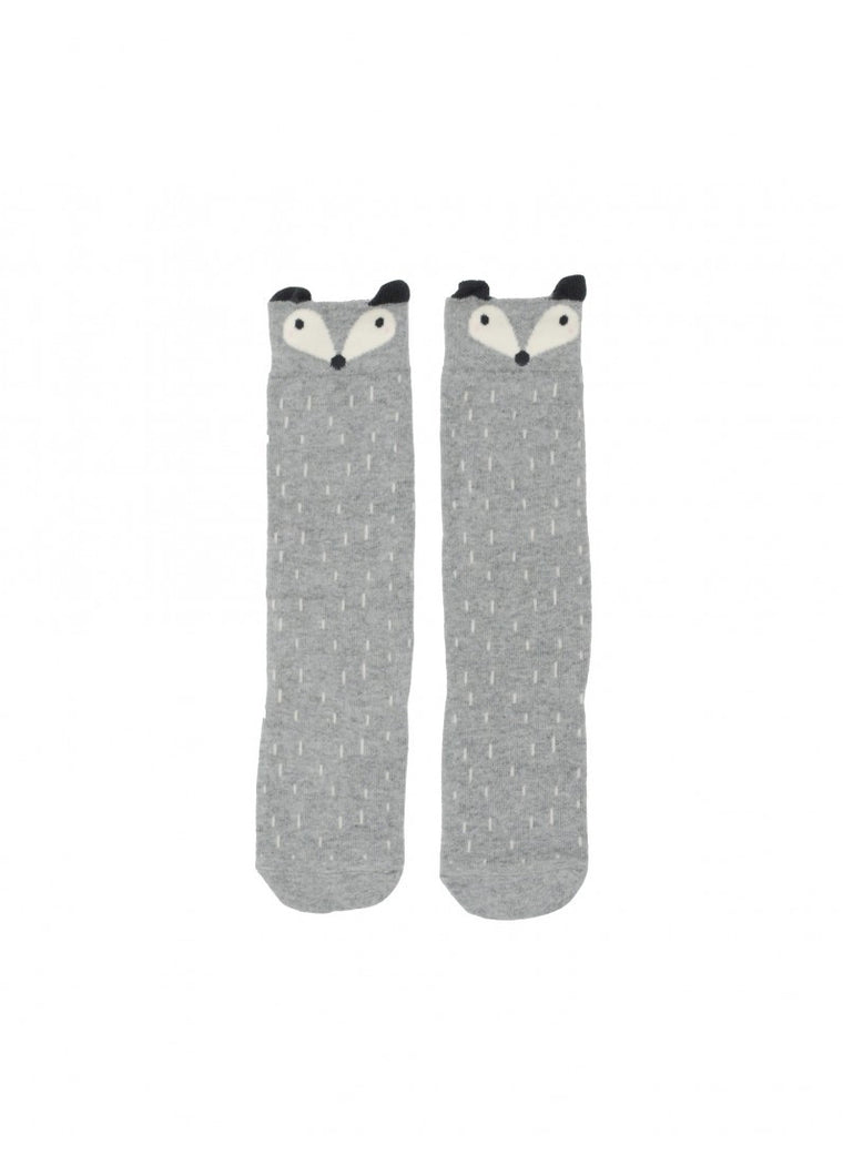 Mini Dressing -Racoon Socks Grey