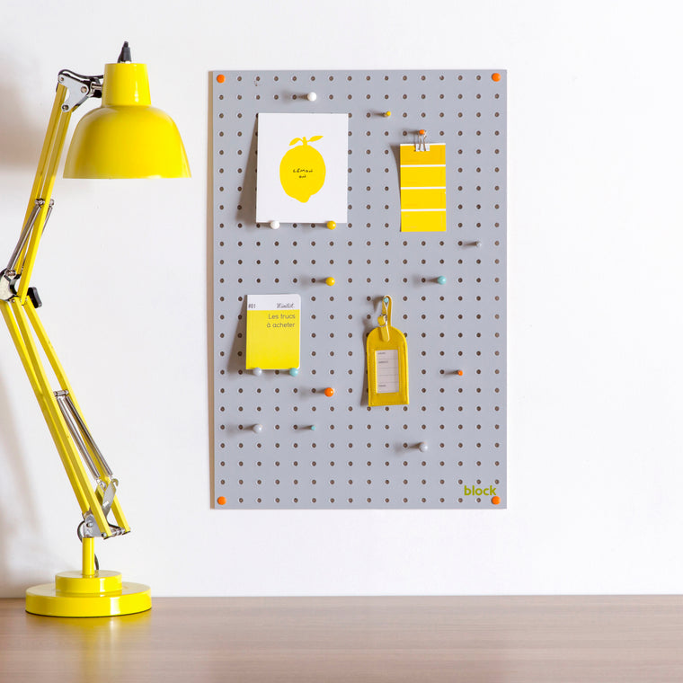 Block Pegboard - Medium Grey
