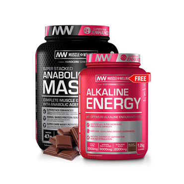 BUY ANY SIZE SUPERSTACKED ANABOLIC MASS AND GET ALKALINE ENERGY FREE