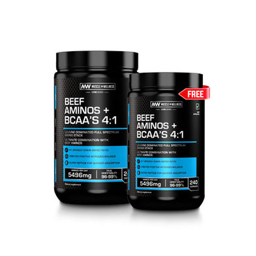 BUY ONE BEEF AMINOS + BCAA 4:1 CAPSULES AND GET ONE FREE