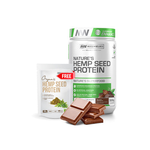 BUY NATURE'S HEMP SEED PROTEIN 500g AND GET AN EXTRA 300g FREE