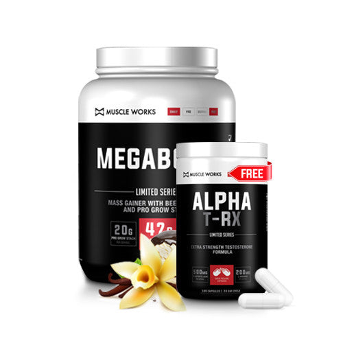 BUY ANY SIZE MEGABOLIC AND GET A FREE ALPHA T-RX 160 CAPSULES