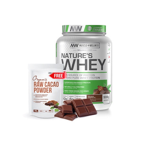 BUY ANY SIZE NATURE'S WHEY AND GET 200g ORGANIC CACAO POWDER FREE