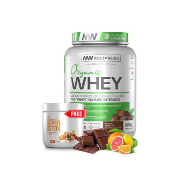 BUY ORGANIC WHEY 800g AND GET A 200g SUPER DETOX FREE