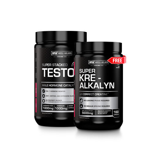 BUY ONE SUPERSTACKED TESTO RX AND GET ONE KRE-ALKALYN FREE