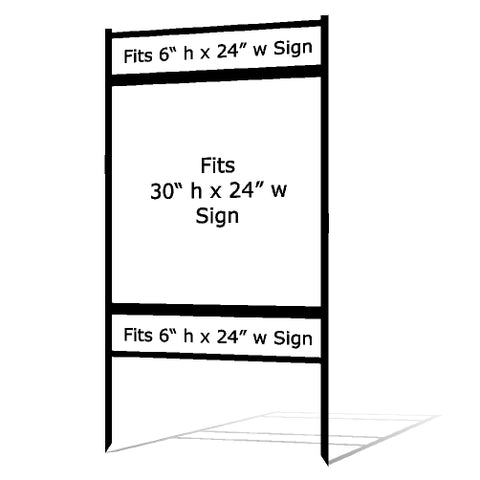 "30"" x 24"" Real Estate Sign Frame"