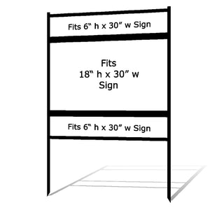 "18"" x 30"" Real Estate Sign Frame"