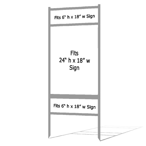 "24"" x 18"" Real Estate Sign Frame - Gray"
