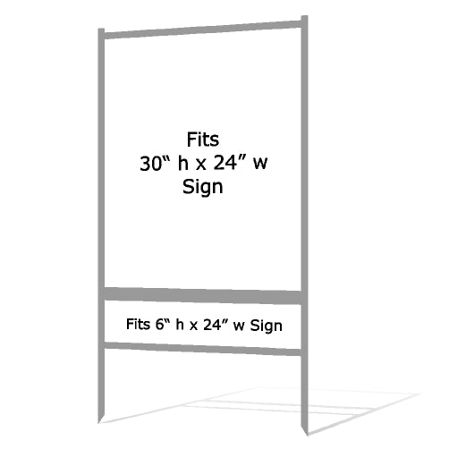"30"" x 24"" Real Estate Sign H Frame - Gray"