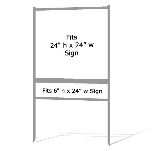 "24"" x 24"" Real Estate Sign H Frame - Gray"
