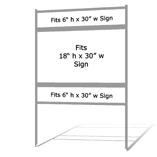 "18"" x 30"" Real Estate Sign Frame - Gray"