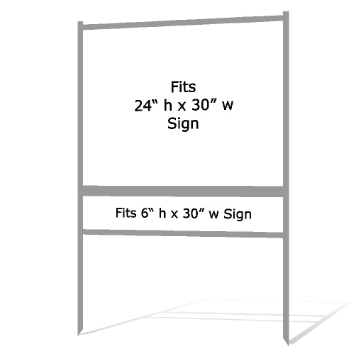 "24"" x 30"" Real Estate Sign H Frame - Gray"