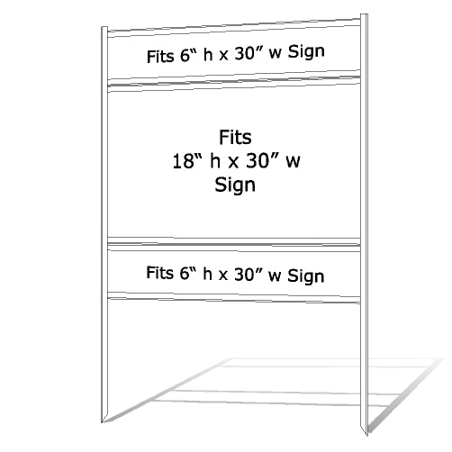"18"" x 30"" Real Estate Sign Frame - White"