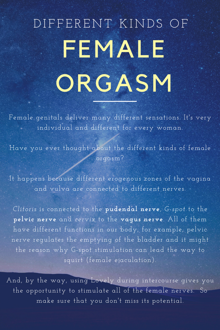 the different kinds of female orgasm