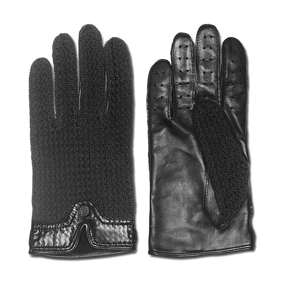 Capri Black Leather Driving Gloves