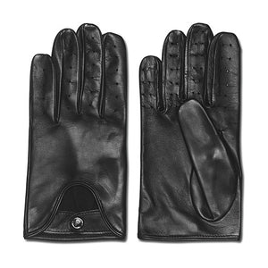 Palermo Black Leather Driving Gloves