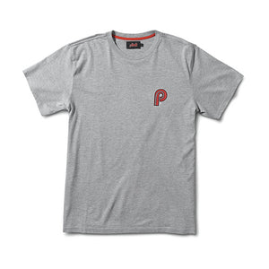 PIT CREW T SHIRT - HEATHER GREY