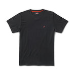 SPEEDWAY HIGH V NECK T SHIRT - BLACK