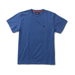 SPEEDWAY HIGH V NECK T SHIRT - COBALT BLUE