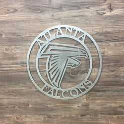 Atlanta Falcons Circle Metal Art