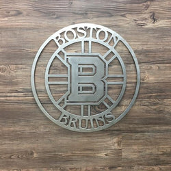 Boston Bruins Circle Metal Art