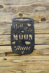 You Are The Moon To My Shine Mason Jar