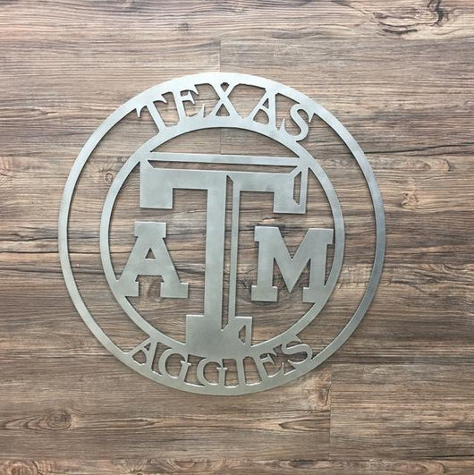Texas A&M Metal Art