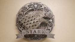 HOUSE STARK Coat of Arms from the Game of Thrones series,  4 layered shield