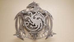 HOUSE TARGARYEN Coat of Arms from the Game of Thrones series,  4 layered shield