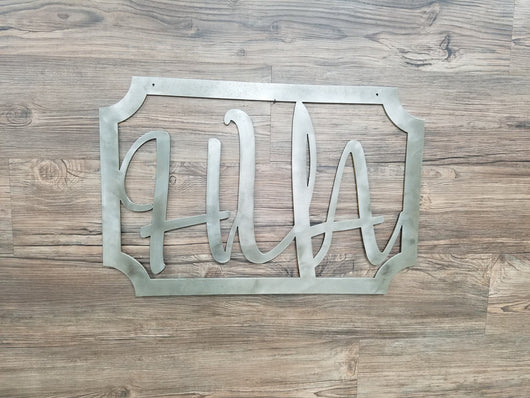 Monogram Initials With Square Border