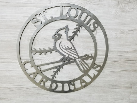 St. Louis Cardinals Circle with Cardinal Logo