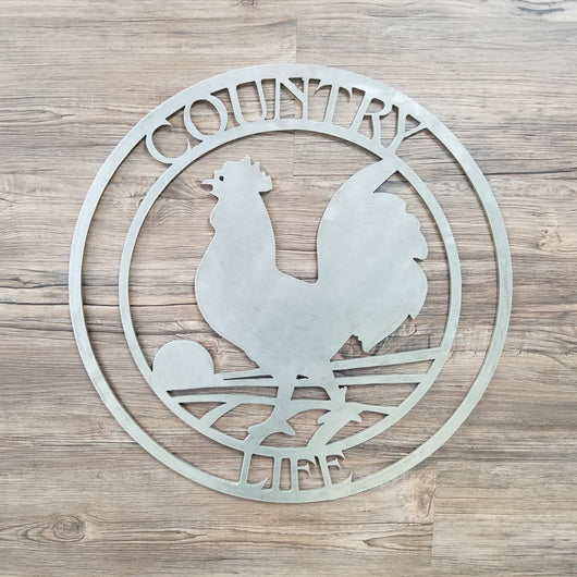 Country Life Circle With Rooster