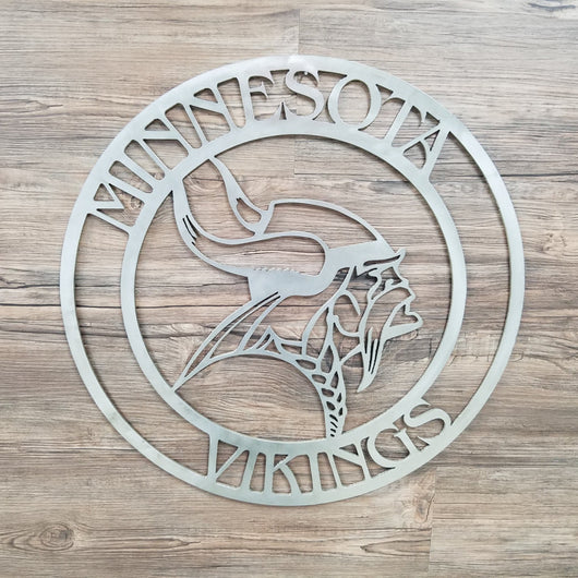 Minnesota Vikings Circle with Viking Logo