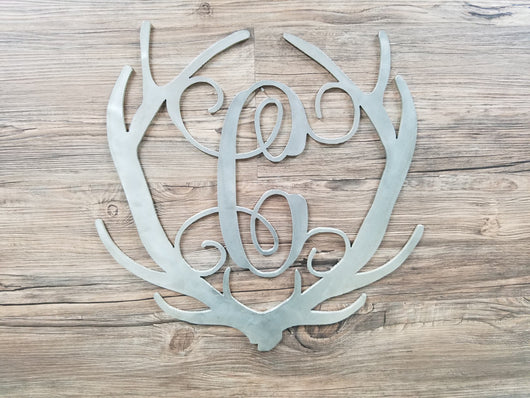 Antlers With Monogram Letter