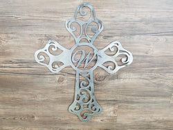 Cross With Monogram Letter