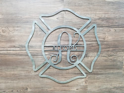 Fire Fighter Badge With Name & Monogram