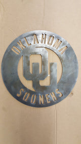 Oklahoma Sooners Cirlce with OU logo
