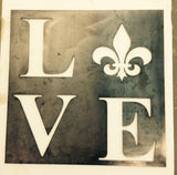 LOVE With Fleur De Lis Sign