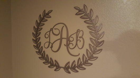 Wreath With Monogram Initials