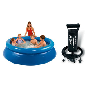 "MySplash - 8ft Quick Set Ring Pool With Bestway 12"" Air Hammer - Inflation Pump"