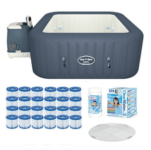 Bestway Lay-Z-Spa Hawaii Hydrojet  & Platinum Starter Kit - Protector, Filters, Chemicals