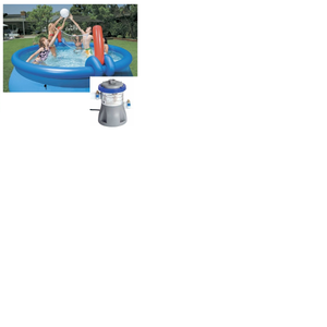 Bestway 10ft Fast Set Pool Set (Pool & 330 Pump) With Volleyball Net