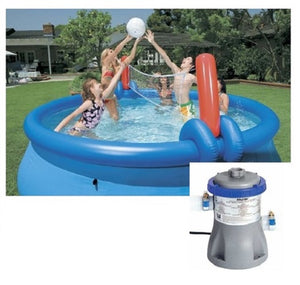 Bestway 12ft Fast Set Pool Set (Pool & 330 Pump) With Volleyball Net