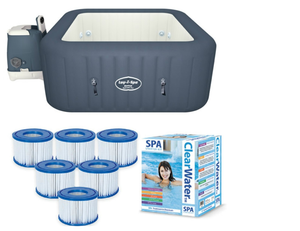 Bestway Lay-Z-Spa Hawaii Hydrojet & Silver Starter Kit - 12 Filters & Chemical starter kit