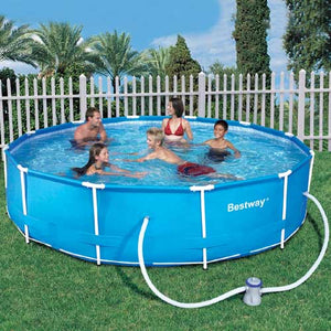Bestway 12 ft Steel Pro Frame Pool with 330 Gal Pump