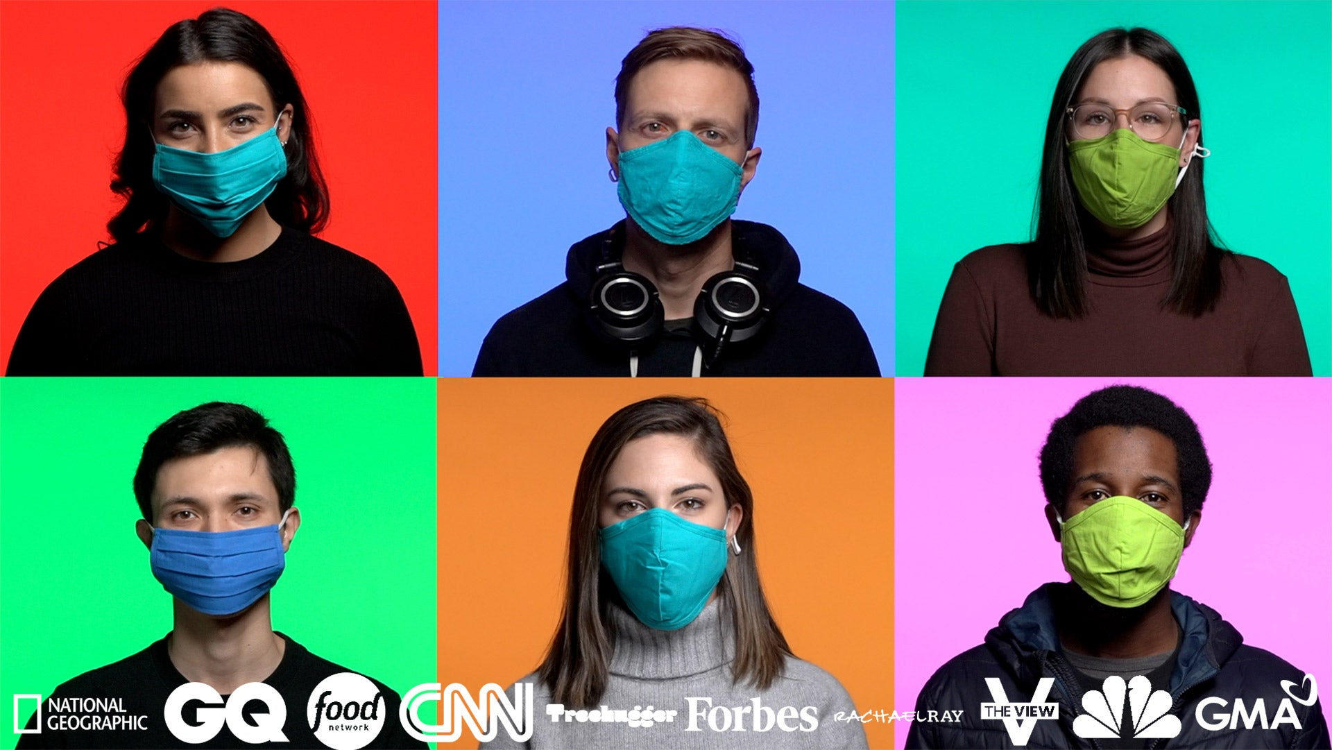 6 people with masks on