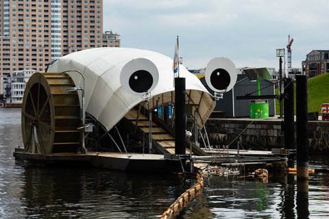 Mr. Trash Wheel, a garbage collecting boat