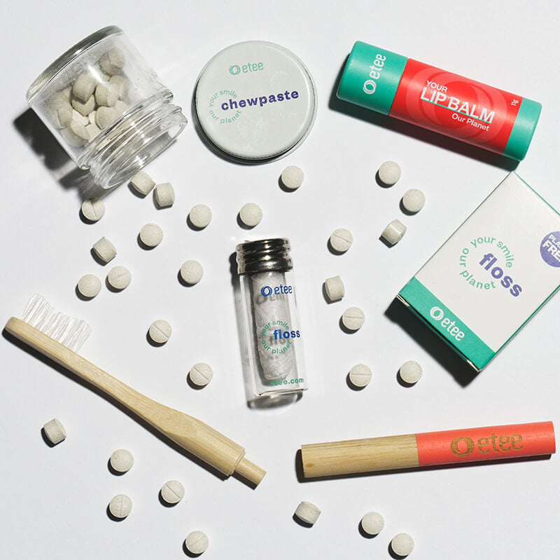 small picture of dental care products