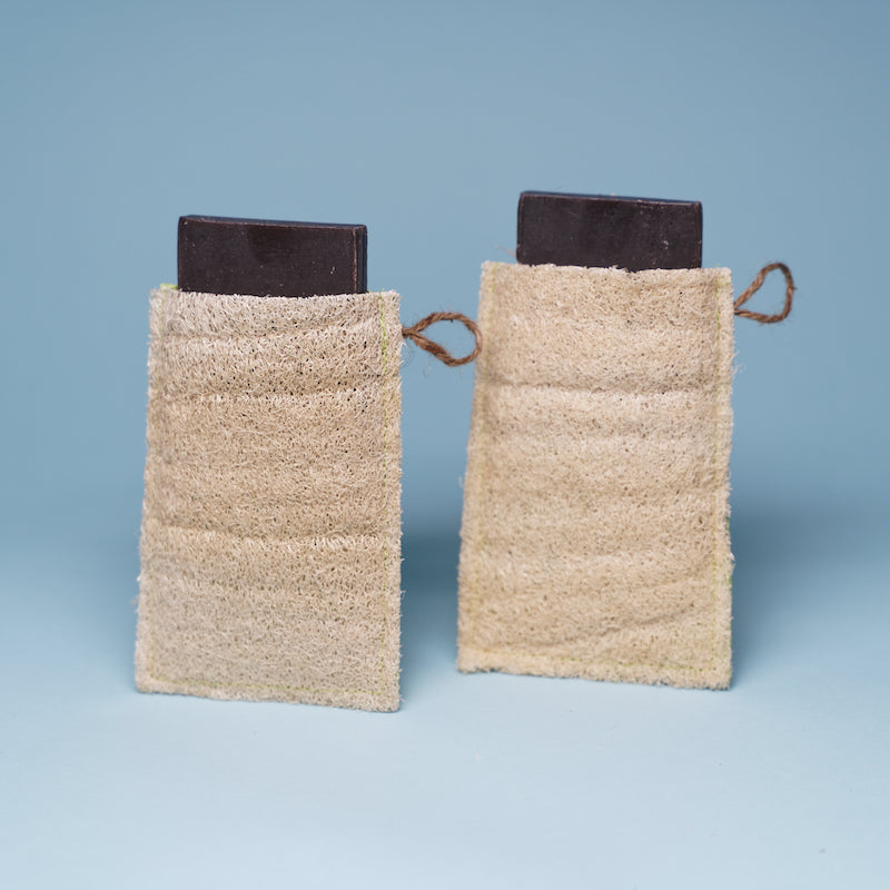 Loofah Soap Pouch (Soap Included)